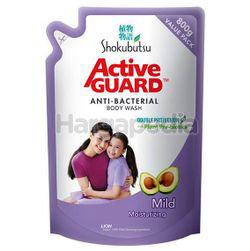 Shokubutsu Active Guard Anti-Bacterial Shower Foam Refill Mild 800ml