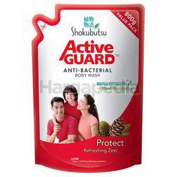 Shokubutsu Active Guard Anti-Bacterial Shower Foam Refill Protect 800ml