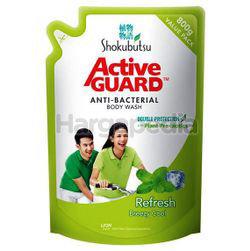 Shokubutsu Active Guard Anti-Bacterial Shower Foam Refill Refresh 800ml