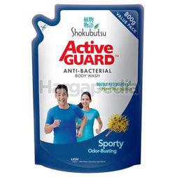 Shokubutsu Active Guard Anti-Bacterial Shower Foam Refill Sporty 800ml