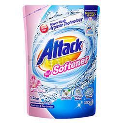 Attack Liquid Detergent Plus Softener Refill 1.4kg