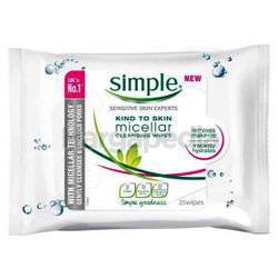 Simple Micellar Cleansing Wipes 25s