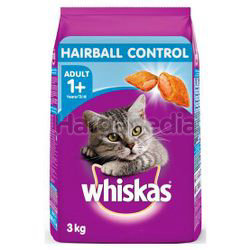 Whiskas Adult Dry Cat Food Hairball Control 3kg