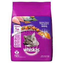 Whiskas Adult Dry Cat Food Mackerel 3kg