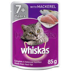 Whiskas 7+ Pouch Cat Food Mackerel 85gm