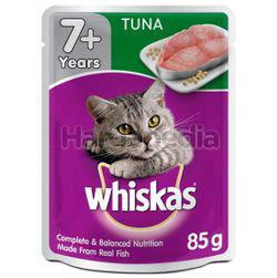 Whiskas 7+ Pouch Cat Food Tuna 85gm