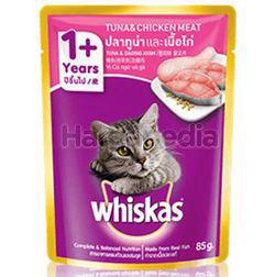 Whiskas 1+ Pouch Cat Food Tuna & Chicken 85gm