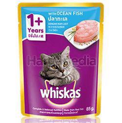 Whiskas 1+ Pouch Cat Food Ocean Fish 85gm
