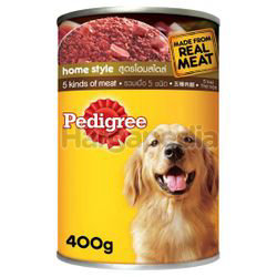 Pedigree Can Dog Food 5 Kinds of Meat 400gm