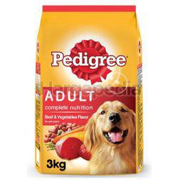 Pedigree Dry Dog Food Beef & Vegetable 3kg