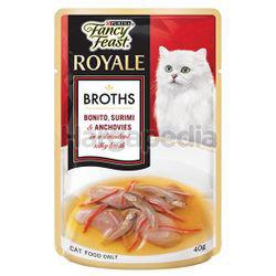 Fancy Feast Royale Broths Bonito, Surimi & Anchovies 40gm
