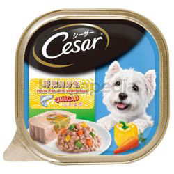 Cesar Dog Food White Fish with Vegetables 100gm