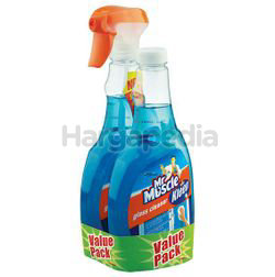 Mr Muscle Kiwi Kleen Glass Cleaner Super Active 2x500ml