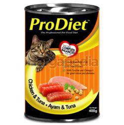 Pro Diet Can Cat Food Chicken & Tuna 400gm