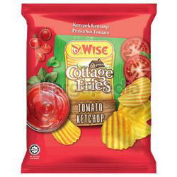 Wise Cottage Fries Potato Chips Tomato Ketchup 65gm