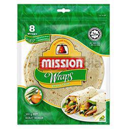 Mission Wraps 8 Wraps Onion & Chive 360gm