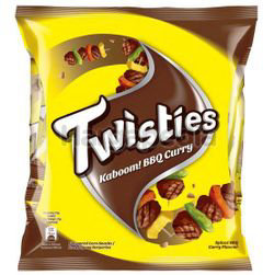 Twisties Snack Multipack BBQ Curry 8x15gm