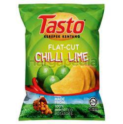 Tasto Flat Cut Potato Chips Chilli Lime 55gm