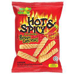 Miaow Miaow Hot & Spicy Prawn Crackers 60gm