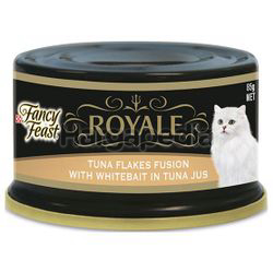 Fancy Feast Royale Tuna Flakes Fusion with Whitebait in Tuna Jus 85gm