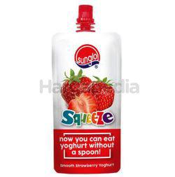Sunglo Squeeze Smooth Strawberry Yogurt 120gm