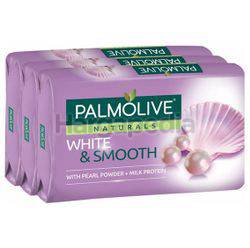 Palmolive Naturals Bath Soap White & Smooth 3x80gm