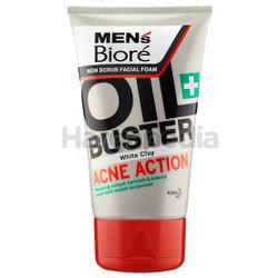 Biore Men's Oil Buster Acne Action Facial Foam 100gm