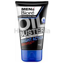 Biore Men's Oil Buster Bright Action Facial Foam 100gm