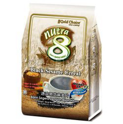 Gold Choice Nutra 8 Black Sesame Cereal with Omega 3 & 6 15x35gm