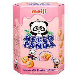 Meiji Hello Panda Coated Biscuit Strawberry 260gm