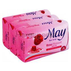 May Bar Soap Rose Pleasure 3x85gm