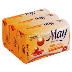 May Bar Soap Milk Luxury 3x85gm