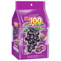 Lot 100 Gummy Blackcurrant 150gm