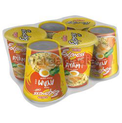 Mamee Express Cup Noodle Chicken 6x64gm