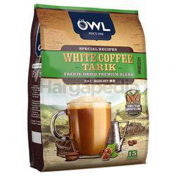 Owl 3in1 White Coffee Tarik Hazelnut 15x36gm