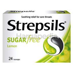 Strepsils Sugar Free Lemon Lozenge 24s