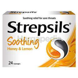 Strepsils Soothing Honey Lemon Lozenge 24s