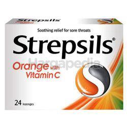 Strepsils Orange with Vitamin C Lozenge 24s