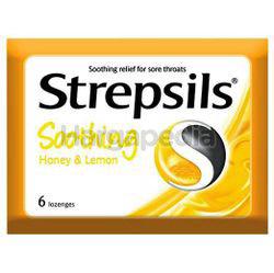 Strepsils Soothing Honey Lemon Lozenges 6s