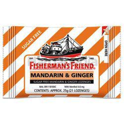 Fisherman's Friend Sugar Free Mandarin & Ginger Lozenges 25gm