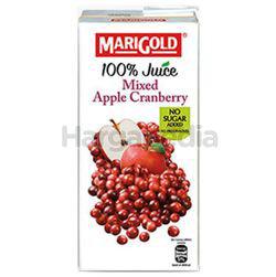 Marigold 100% Juice Mixed Apple Cranberry 1lit