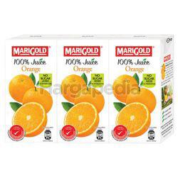 Marigold 100% Juice Orange 3x200ml