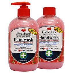 Fruiser Moisturising Hand Wash Strawberry 2x500ml