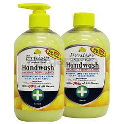 Fruiser Moisturising Hand Wash Lemon 2x500ml