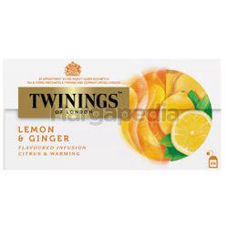 Twinings Lemon & Ginger Tea Bags 25x1.5gm