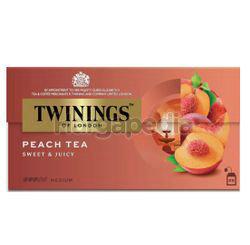 Twinings Peach Tea Bags 25x2gm