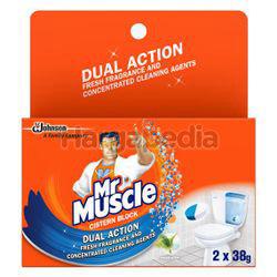 Mr Muscle Cistern Block Fresh Scent 2x38gm