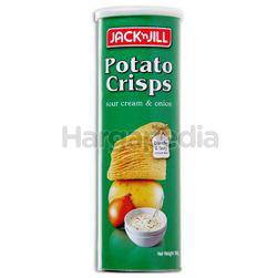 Jack N Jill Potato Crisps Sour Cream & Onion 160gm