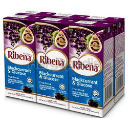 Ribena Blackcurrant & Glucose Fruit Drink 6x200ml