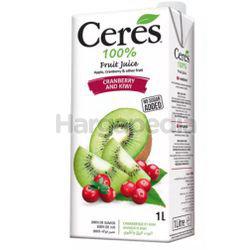 Ceres 100% Cranberry & Kiwi Juice 1lit